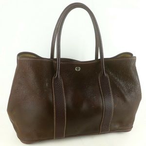 Hermès Auth Garden Party 36 Leather Tote